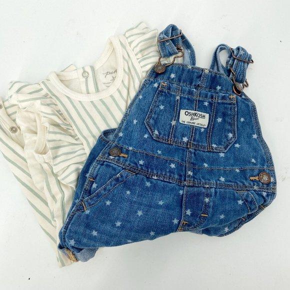 PEHR & OSHKOSH Baby Girl Outfits Overalls
